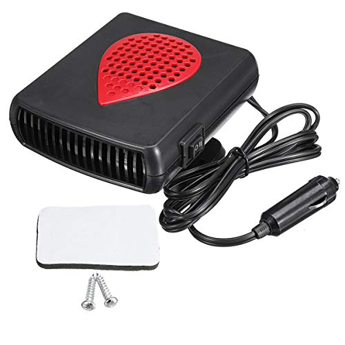 YONGYAO 12V/24V 150W Coche Eléctrico Portátil Calentador Ventilador de Enfriamiento de Calefacción Caliente Descongelador - Negro Y Rojo 24V