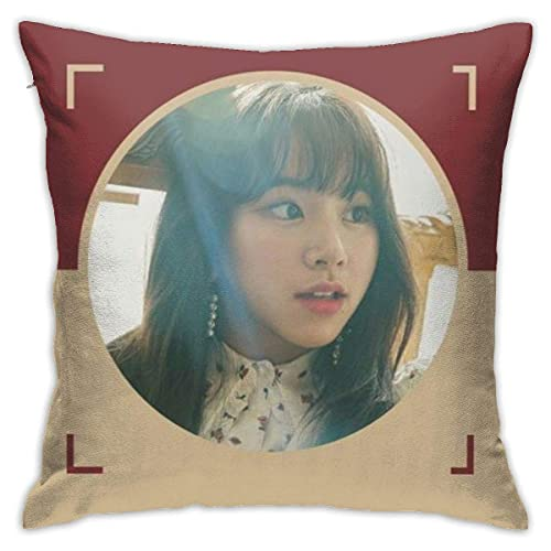 Twice Son Chaeyoung Fan Design K-Pop Merch Colorful Bed Pillow for Home Party One Size Kissenbezüge 18x18Inch(45cmx45cm)