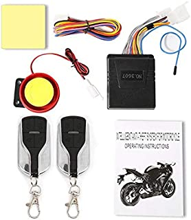 VistorHies - 12V Motorcycle Alarm System Anti-theft Adjustment Alarm System Remote Control 75x65x22mm