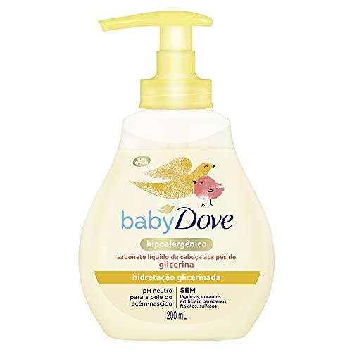 Sabonete Líquido da Cabeça aos Pés de Glicerina Baby Dove Hidratação Glicerinada 200ml