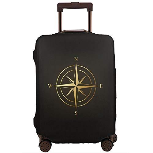 Teery-YY Golden Compass - Funda protectora para equipaje de viaje (45 a 32 cm), color negro rosa