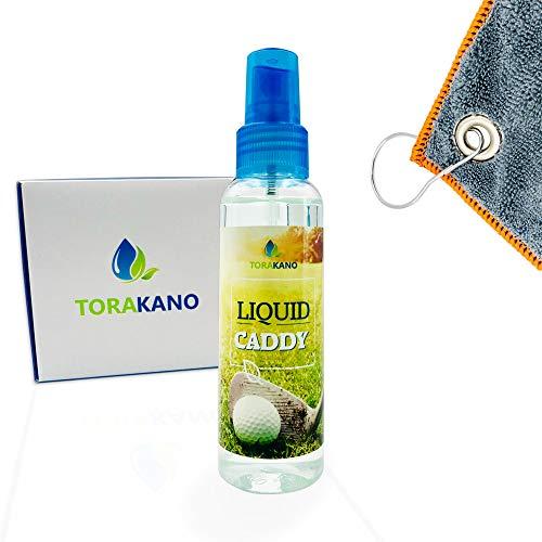 TORAKANO Liquid Caddy Basic Pack - Reinigung & Pflege für Golfschläger und Golf Equipment - Set (Grau)