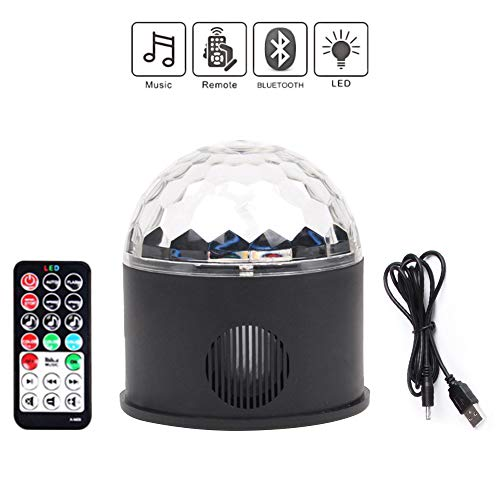 ANKENGS Disco Lights, Sound Activated LED Disco Ball Lights with Remote Control,9W RGB Crystal Magic Ball Lamp for Kids Birthday, Family Gathering,Holidays, Dance, Parties, DJ, Bar, KTV, Club