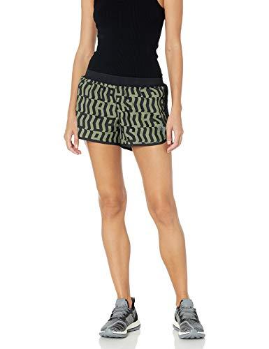 adidas Marathon 20 TKO - Pantalones Cortos para Mujer, Primavera/Verano, Mujer, Color Color Verde y Negro, tamaño XX-Small