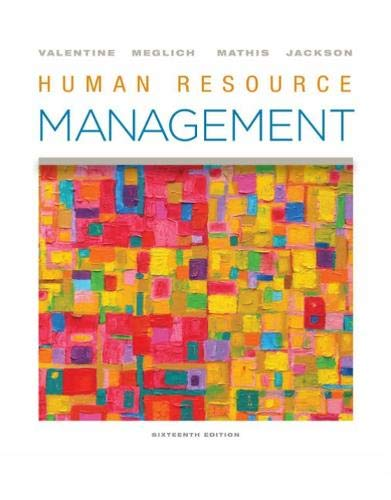 Compare Textbook Prices for Human Resource Management 16 Edition ISBN 9780357033852 by Valentine, Sean R.,Meglich, Patricia,Mathis, Robert L.,Jackson, John H.