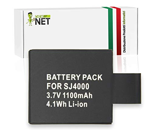 New Net - Batería de Repuesto Compatible con GeekPro 1 2.0 Plus 3.0 Plus GitUP Git1 Git2 Neewer SJ4000 Novatec SJ4000 SJ5000 96660 Afunta SJ4000 SJ6000 Ablegrid SJ5000 [1100 mAh 3.7V]