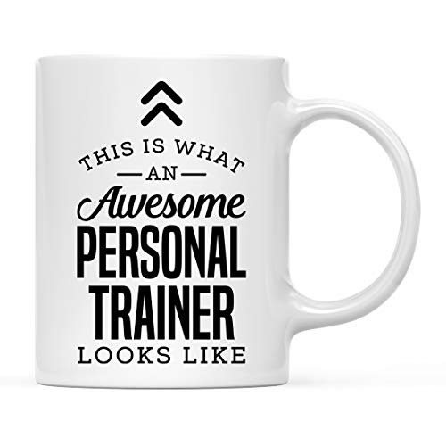 Andaz Press 11oz. Ceramic Coffee Tea Mug Thank You Gift, This is What an Awesome Personal Trainer Looks Like, 1-Pack, Birthday Christmas Gift Ideas Coworker Him Her, Includes Gift Box