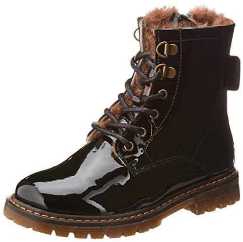 Bisgaard Mädchen Maia Combat Boots, Schwarz (Black Patent 210), 34 EU