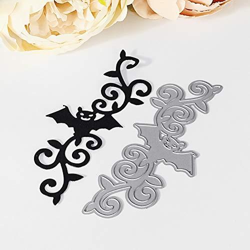 Lai-LYQ Stanzmaschine Stanzschablone, Halloween Dekoration Fledermaus Grenze Scrapbooking Prägeschablonen Handwerk Festival Geschenk