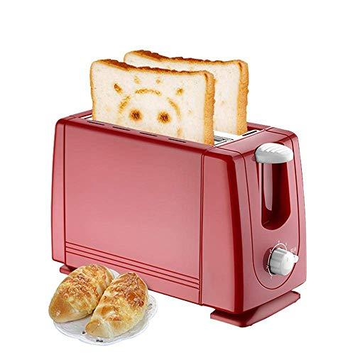 Mini tostadora para el hogar Máquina de pan para hornear eléctrica Automáticas Completas Máquina de desayuno Horno de tostada 2 rebanadas 680W para cocina, cocina fangkai77