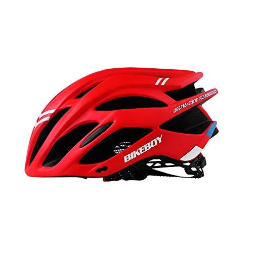 Ocamo Hombres Mujeres Pieza Casco de Ciclismo Moldeado para Equipo de Bicicletas de protección para la Cabeza Red One Size