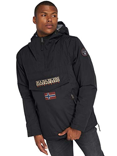 Napapijri Rainforest Pocket, Giacca Uomo, 100% Poliammide, Nero (Black 041), L