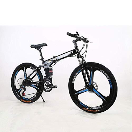 Qinmo Fahrrad Mountainbike 24/26 Inch 21/24/27 Geschwindigkeit männliche und weibliche Studenten Variable Speed Doppelscheibenbremse vorne und hinten Doppelstoßdämpfung Erwachsene Fahrrad