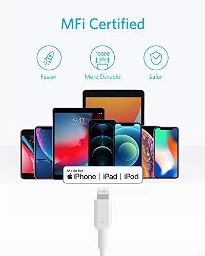 Anker PowerLine II USB C auf Lightning Kabel,90 cm lang,Apple MFi-Zertifiziert, für iphone 11/11 Pro/11 Pro max/X/XS / XR / XS Max / 8 / 8 Plus, für Typ-C Ladegeräte,Unterstützt Power Delivery (Weiß)