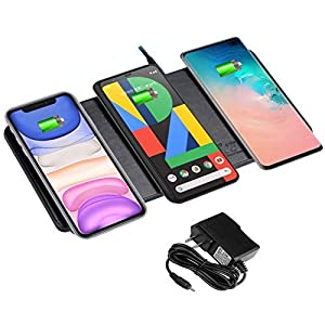 Edl 16 Wireless Charger 3 In 1 Charging10w75w5w For Qi Enabled Phones Like Iphone New Airpods Samsung Google And More Note No Support Qi Watchblack