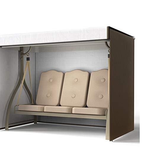 Abdeckung für 3-Sitzer-Hollywoodschaukel, wasserdicht, strapazierfähig, Sonnenschutz, Schutzabdeckung für Garten/Hof/Park, 220 x 170 x 145 cm (Kaffee)