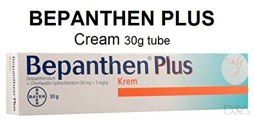BEPANTHEN PLUS Cream 30g tube - Skin Rash Dermatitis - Wounds Cuts Burns Skin Irritation...