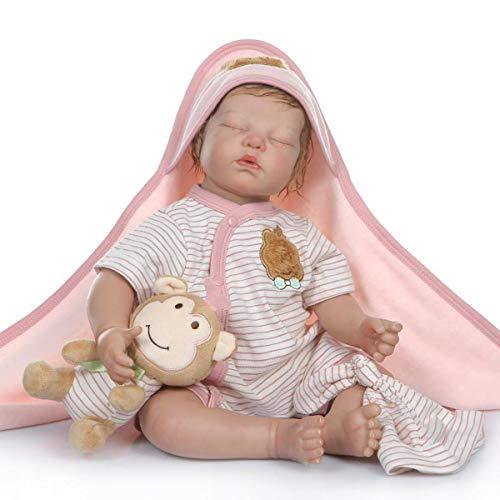 Terabithia 21pulgadas 52CM Real Life Collectible Sleeping Painting Pintura Detallada Reborn Baby Dolls, Un Momento en mis Brazos, para Siempre en mi corazón