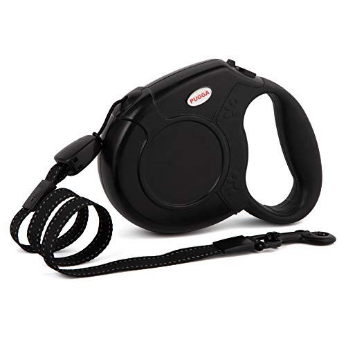 Heavy Duty Retractable Dog Leash,26ft Pet Walking Leash for Small/Medium/Large Dog or Cat up to 110 lbs, Tangle Free. One-Hand Brake (Big, Black)