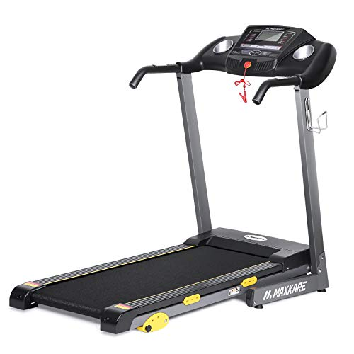 MaxKare Folding Treadmill Electric Motorized Running Machine 17'' Wide Tread Belt w/Incline LCD Display and Cup Holder Easy Assembly with 15 Preset Programs Perfect for Home Use by MaxKare