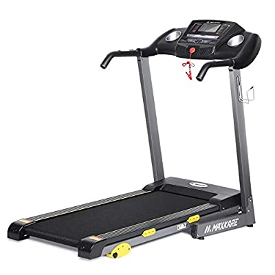 MaxKare Folding Treadmill Electric Motorized Running Machine 17'' Wide Tread Belt w/Incline LCD Display and Cup Holder Easy Assembly with 15 Preset Programs Perfect for Home Use