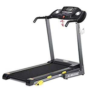 """MaxKare Folding Treadmill Electric Motorized Running Machine 17"""" Wide Tread Belt w/Incline LCD Display and Cup Holder Easy Assembly with 15 Preset Programs Perfect for Home Use"""