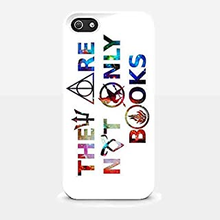 They Are Not Only Books Harry Potter Galaxy for Iphone and Samsung Galaxy Case (Iphone 5/5s White)