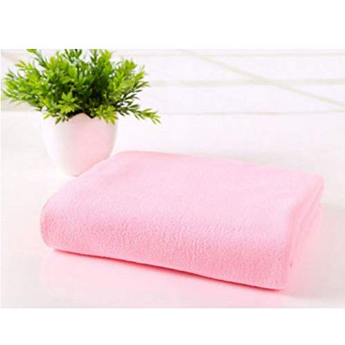 IAMZHL 70x140cm Microfibra Absorbente Secado Baño Toallas de Playa Toalla Traje de baño Ducha Toalla Paño 14 Estilo Color sólido Toalla de baño-Light Pink-70x140cm