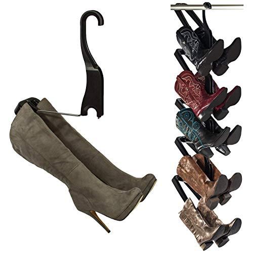 BOOT BUTLER Regale für Stiefel (Schuhablageorganisator) Einfach zu montieren und zu Bauen Hält 5-Paare Schwarz und Chrom