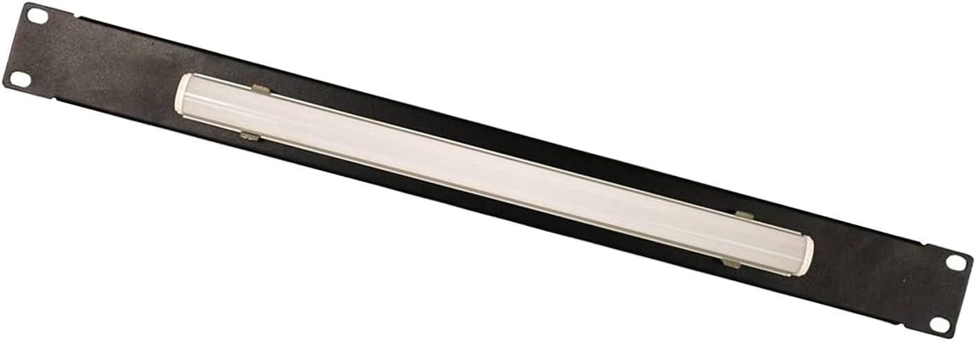 FerruNet1U Steel Panel Light for Standard 19 Inch Server Cabinet Rack Lighting Panel Black,ApplytoSmall Office, Home Office.