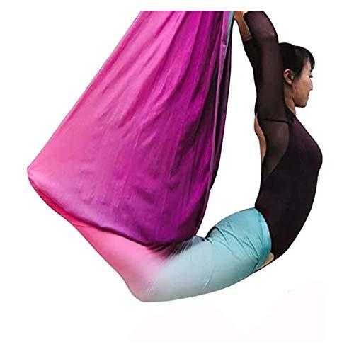Columpio sensorial 5 Metros Premium Yoga DIY Silks Aerial Equipo Aéreo Yoga Hamaca Safe Deluxe Kit Aérea Antigravedad Yoga Swing Flexibilidad y Fuerza Central mejoradas