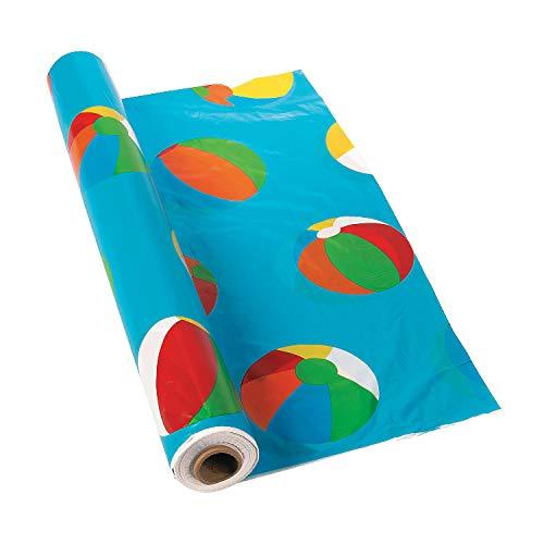 "Beach Ball Tablecloth Roll - 100 Ft. X 40"""