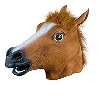 Die Pferdemaske sieht cool aus und ist perfekt für Halloween, Ostern, Karneval, Weihnachten, Maskerade, Kostümparty, Weihnachten. Es besteht zu 100% aus ungiftigem Naturlatex und ist bequem und atmungsaktiv. Gute Elastizität, Schrumpfung, Haltbarkeit...