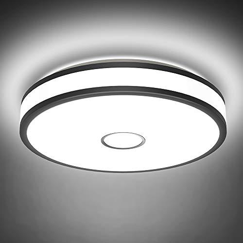 Onforu 32W LED Lámpara de Techo Salón, IP65 Impermeable CRI 90+ LED Plafón 3200LM para Cocina Dormitorio Habitacion, Igual al 300W Luz Interior Techo, 5000K Blanco Frío Redonda Moderna