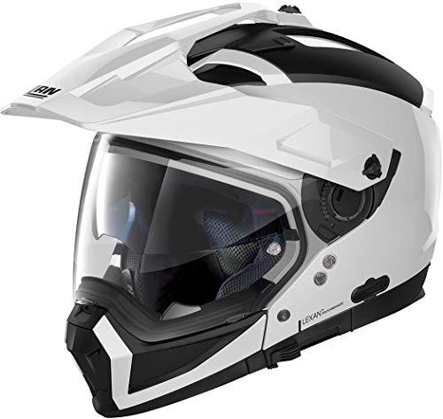 Nolan Herren N70-2 X Classic N-com Metal White L Helmet, weiß, L