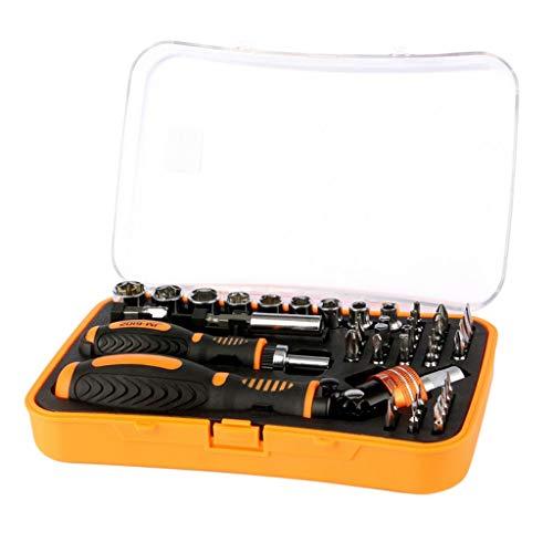 Bonarty 43 In 1 Schraubendreher Set Schraubenzieher Kit Uhrmacher Reparatursatz für Computer, iPhone, Tablet, Laptop