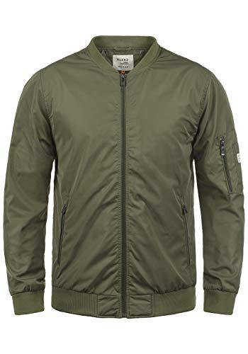 Blend Craz Herren Bomberjacke Übergangsjacke Jacke Mit Stehkragen, Größe:XL, Farbe:Dusty Olive Green (77203)