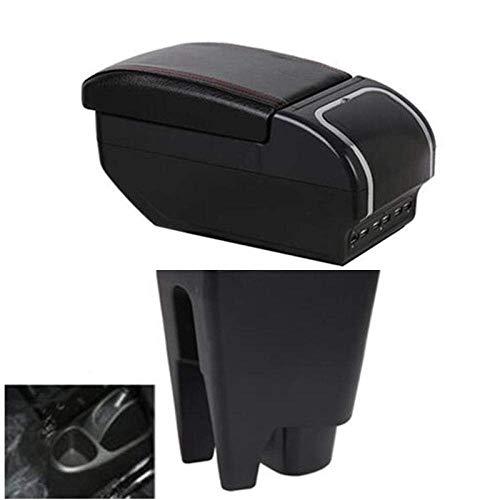 JNTML para Peugeot 107,Caja de reposabrazos paraSecretaria de Coche,reposabrazos USB, 3 Colores, decoración de Coche, Accesorios de Viaje, Caja de Almacenamiento