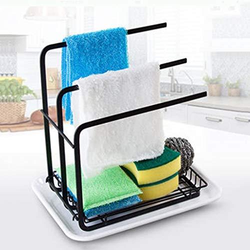 Haushalt Küche Lagerung Lappen Rack Lappen Multifunktions stanzfreie Arbeitsplatte vertikale Lappen Rack schwarz YGDH (Size : 26cm×19.5cm×25cm)