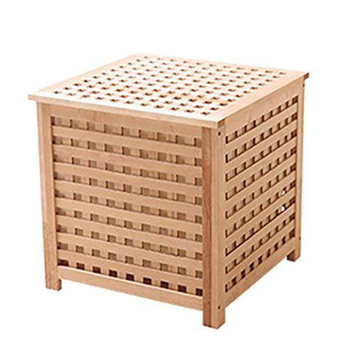 FICYEFIYC Mesita de noche de madera, mesa auxiliar con almacenamiento resistente y duradero para...