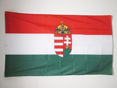 AZ FLAG Flagge KÖNIGREICH UNGARN 1920-1946 150x90cm - UNGARISCHE Fahne 90 x 150 cm Scheide für Mast - flaggen Top Qualität