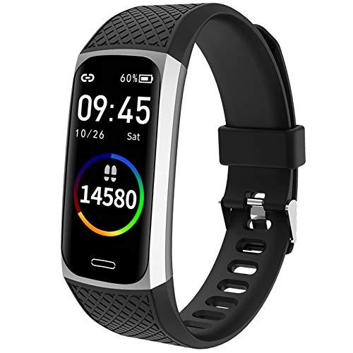 Smartwatch, Reloj Inteligente,Pulsera Actividad con Fitness Tracker,Cronómetro, Calorías, Podómetro, Pulsómetro, Monitor de Sueño, IP68 Impermeable, Reloj de Fitness para Mujer Hombre Niño,Plata