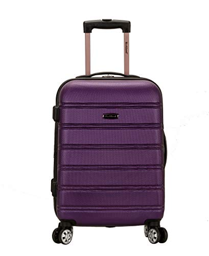 Rockland Melbourne Hardside Expandable Spinner Wheel Luggage, Purple, Carry-On 20-Inch