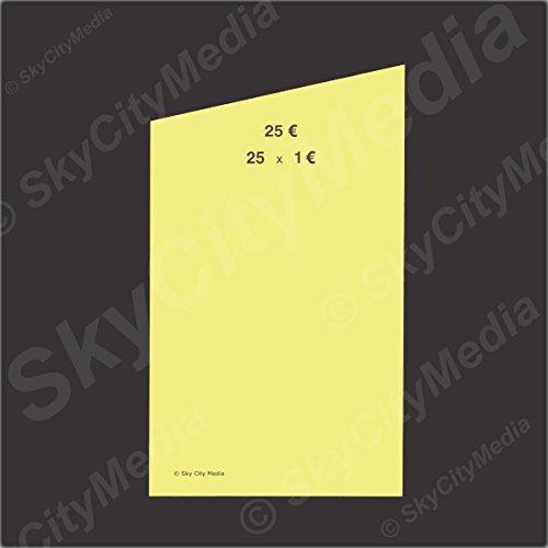 Münzrollpapier für Euro Münzen je 50x (1,00 € Papier) für Geldrollen/Rollgeld Münzrollenpapier/Handrollpapier/NEU