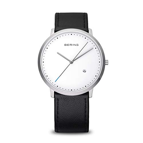Bering Herren Analog Quarz Uhr mit Leder Armband 11139-404