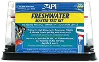 Zestaw testowy API Master Freshwater (zestaw zawiera laminowaną kartę kolorową, 4 probówki i tacę do trzymania