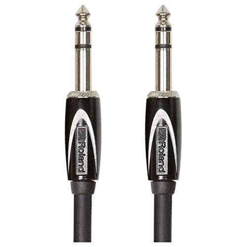 Cable estéreo de interconexión de la serie Black de Roland — TRS de 1/4 de pulgada, 1,5m de longitud - RCC-5-TRTR