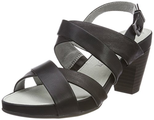 s.Oliver Damen 28304 Slingback sandalen, schwarz (black comb), 42 EU