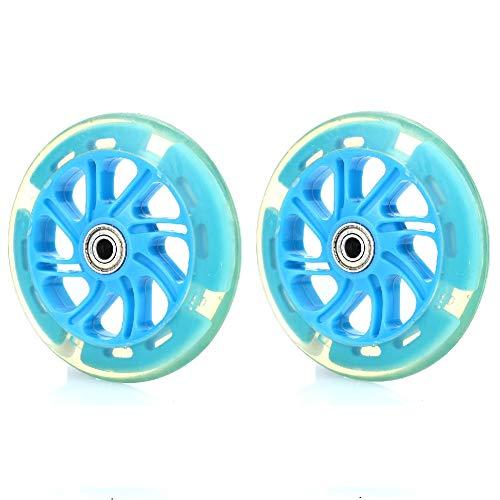Rosepoem Roller-Ersatzradsatz, 2 Stück 120-mm-Räder, Super Rebound Roller LED-Rad geeignet für Cityroller, Kickroller mit 120-mm-Rädern