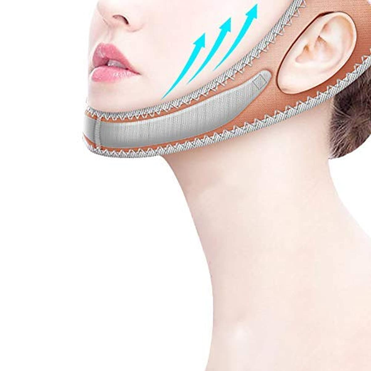 パトロール絶妙電極二重あごのプラスチック顔のアーティファクトの器械の美顔術のマッサージャーの近くで持ち上がる小さいVの表面の器械の包帯のマスクとの睡眠